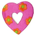 Flower Heart Iron-on Applique Patch by PC, PA-IA-T03551